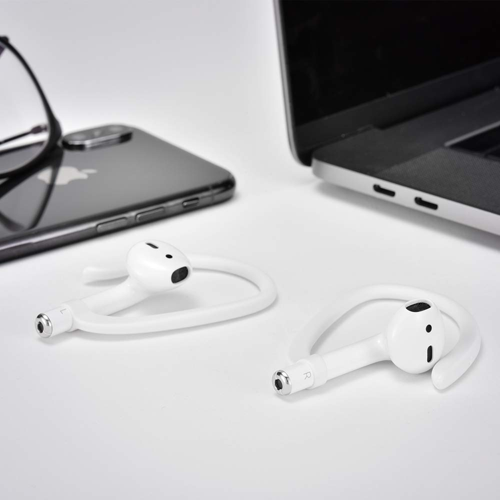 ICARERSPACE Sports Headset for AirPods 1 /& 2 AirPods Ear Hooks Compatible with Apple AirPods 1 /& 2 White