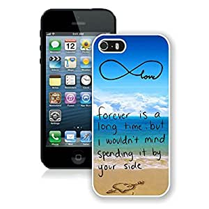 Pop Infinity Anchor with Love and Sandy Beach Design S Iphone 5 5s Case White Cover