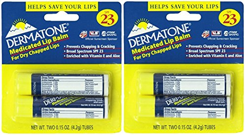 Dermatone Medicated Lip Balm SPF 23,0.15-Ounce, 4 Count