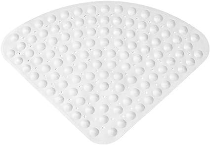Ommda Badewanneneinlage mit Saugn/äpfen Duschvorleger Rutschfeste Duschmatte Sektortyp Naturkautschuk 0.7cm,Beige,65x65cm