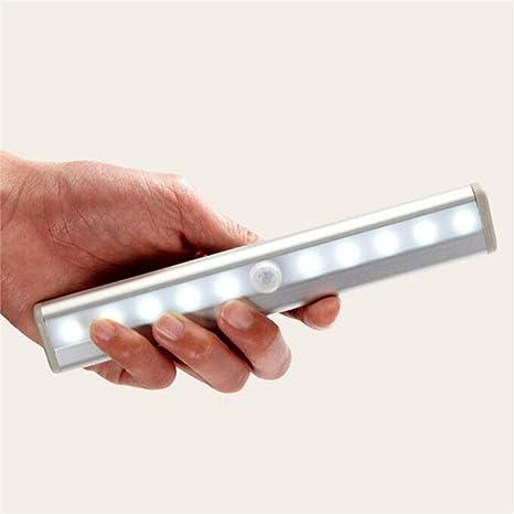 WLBD Sensor de Movimiento Luz del Armario, Mejorado 20 LED para Interiores Batería Recargable inalámbrica