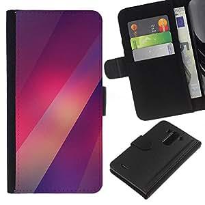 Stuss Case / Funda Carcasa PU de Cuero - Purple Luces Patrón borrosa - LG G3