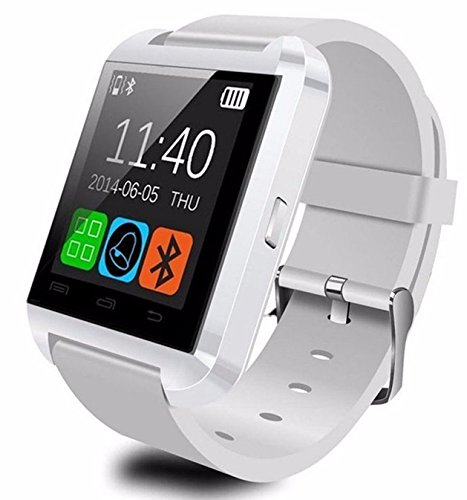 U8 Bluetooth Smart watch Wristwatch with remote camera Pedometer Anti-lost sleep monitoring For Android IOS system Smart phone (white)
