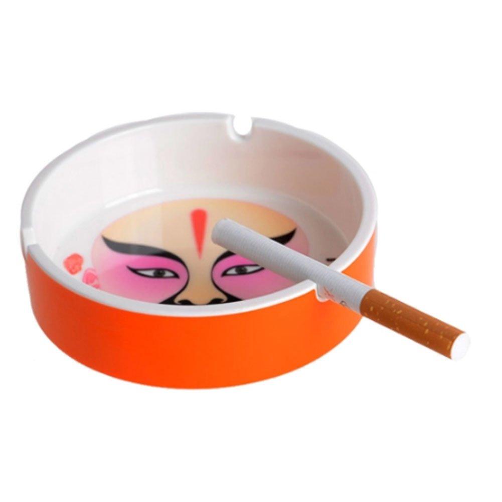 Beijing Opera Facial Melamine Ashtray Home Decoration Creative Ashtray(Orange) PANDA SUPERSTORE PS-HOM9442715011-JACKY01929
