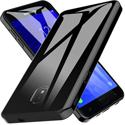 LK Case for Samsung Galaxy J7 2018/J7 V 2rd Gen/J7 Aero/J7 Top/J7 Refine/J7 Eon/J7 Star/J7 Crown/J7 Aura,Ultra [Slim Thin] TPU Silicone Protective Case (Black)