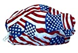 Red, White, & Blue Mask - Comfortable, Reusable Protection from Dust, Pollen, Allergens, & Flu Germs with Antimicrobial