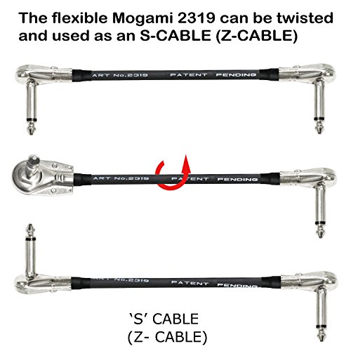 6 Units - 6 Inch - Pedal, Effects, Patch, instrument cable CUSTOM MADE By WORLDS BEST CABLES – made using Mogami 2319 wire and Eminence Nickel Plated ¼ inch (6.35mm) R/A Pancake type Connectors by WORLDS BEST CABLES (Image #4)
