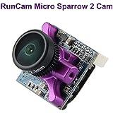 RunCam FPV Camera Micro Sparrow 2 Camera 2.1mm Lens 700TVL CMOS OSD FOV 150 Degree 4:3 FPV Mini Camera NTSC PAL Purple for FPV Racing Drone