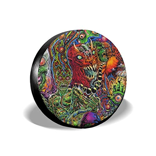 Halloween Mexican Colorful Skull Zombie Scary Makeup Car Accessories Waterproof Tire Cover Unisex Protection Spare Covers Storage Protective Cover Suitable For Jeep Car Trailer RV SUV Truck Interior]()