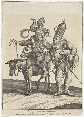 Costumed Characters (Classic Art Poster - Costumed characters with different animals, anonymous, 1700 - 1749 17