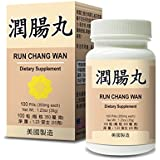 Run Chang Wan Herbal Supplement Helps For Moisten & Lubricate The Bowels, Constipation, Dry Bowels & Insufficient Bodily Fluids 350mg 100 Pills Mde in USA