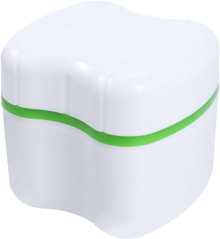 rosenice estuche caja para dentadura con recipiente para Enjuague (verde): Amazon.es: Salud y cuidado personal
