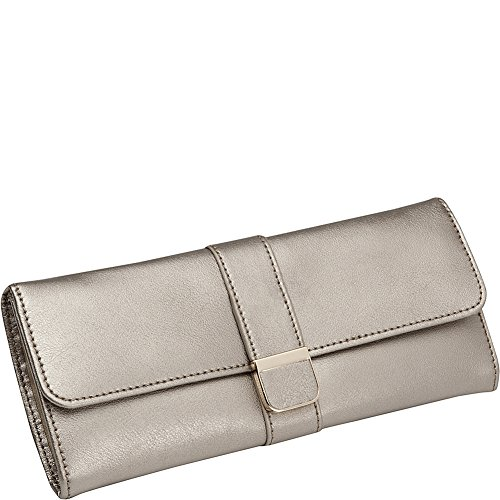 WOLF 213478 Palermo Jewelry Roll, Pewter