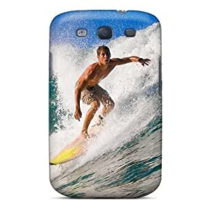 Cute PC Mialisabblake Surfer Riding A Wave For Case Samsung Galaxy S4 I9500 Cover