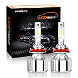 SUNMEG LED Headlight Bulbs H11/H8/H9, 60W 8000 Lumen 6000K Cool White, 360 Degree Adjustable Beam All-in-One Conversion Kit, DOT Approved, 2 Yr Warranty