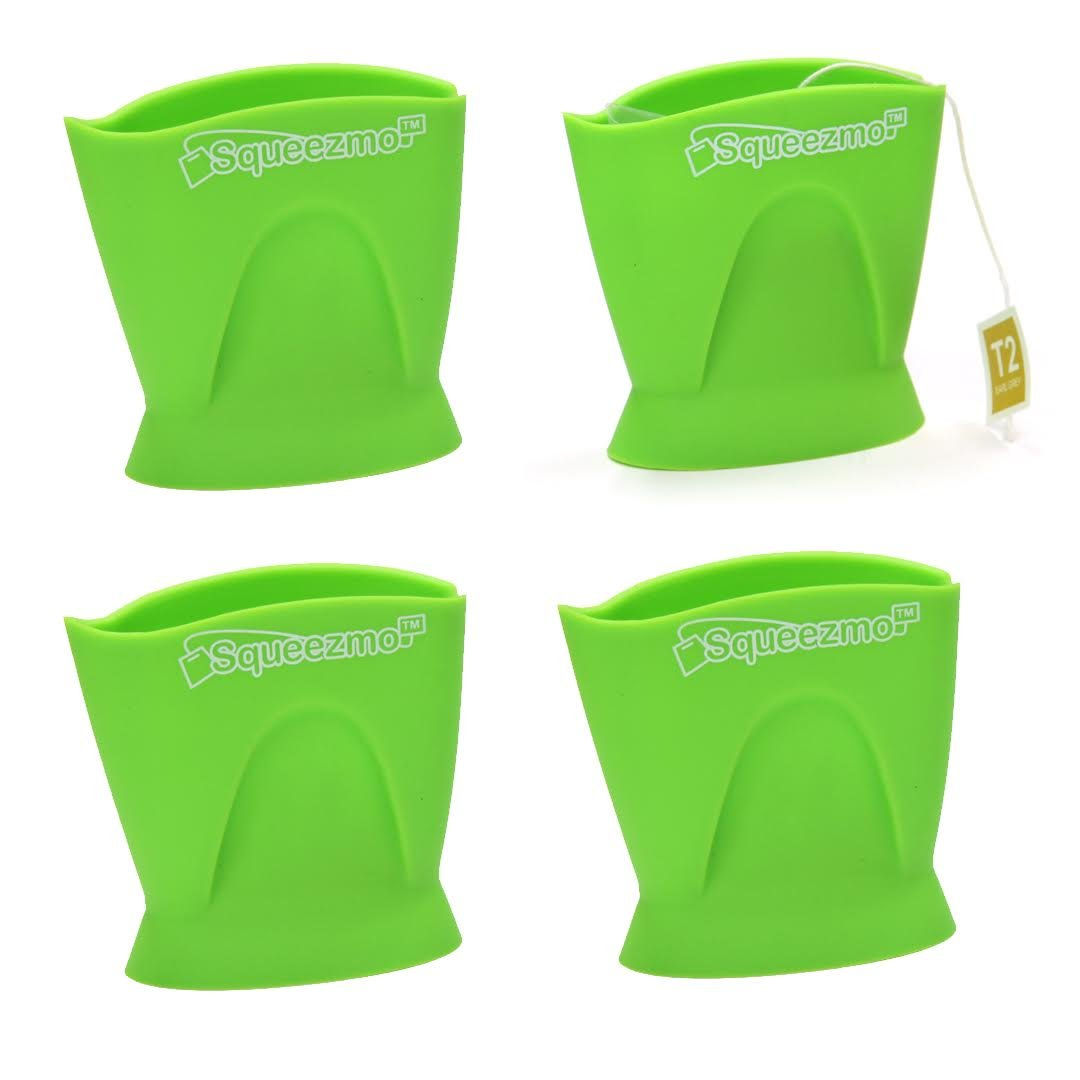 Squeezmo Tea Squeeze Green Leaf - 4 Pack