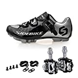 Kukome Mountain Bike Bicycle Cycling Shoes + Pedals & Cleats (silvery Black +black, Us11/eu44/ft28cm) | amazon.com