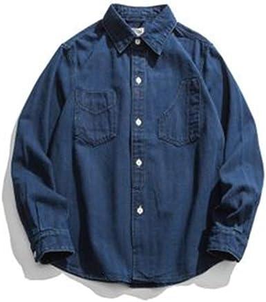 Lushi - Camisa vaquera de manga larga con estampado de espina ...