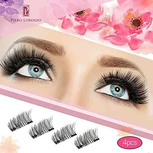 77e014b3e80 Magnetic Eyelashes Dual Magnet Glue-free 3D Reusable Full Size Premium  Quality Natural Look Best
