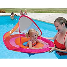 Swim Ways Baby Spring Float With Canopy - Pink Butterfly
