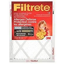 Filtrete Micro Allergen Furnace Air Filter, MPR 1000, 15x20x1, 6-Pack
