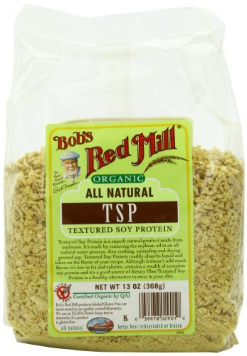 Red Mill de Bob TSP organique (Texture de protéines de soja), Sacs 13 onces (pack de 4)
