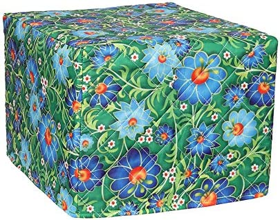 Cotton Quilted Bread Microwave Toaster Oven Cover Kitchen Small Appliance Cover Bakeware Cover Organizer Bag Anti Fingerprint Protection Durable Bread Machine Cover 4-Slice Toaster Cover Leaf Fruit
