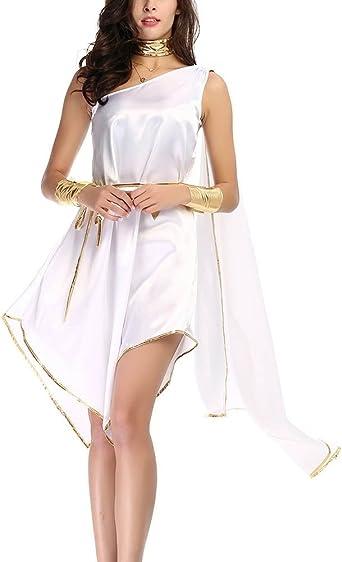 Disfraz De Diosa Griega Atena Vestidos para Mujer Cosplay Romana ...