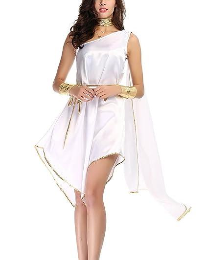 Disfraz De Diosa Griega Atena Vestidos para Mujer Cosplay Romana Reina Diosa Halloween Carnaval