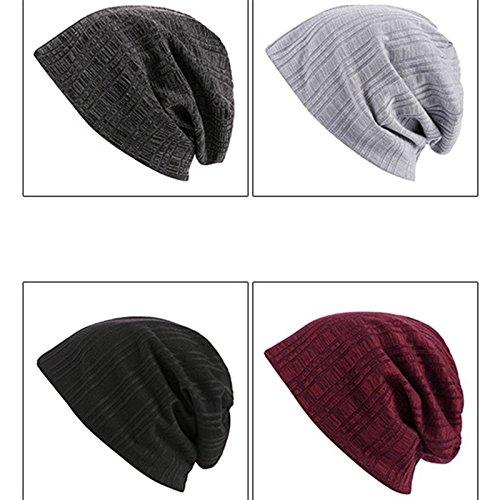 Hombre Mujer Unisex cálido y de Gysad Cómodo Gorros Rojo Invierno Sombrero Elasticidad Sombrero Gorras de Punto PwpfxqR