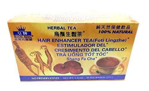 2 Boxes Royal King 100% Natural Hair Enhancer Tea (Foti Lingzhe) 40 Tea Bags