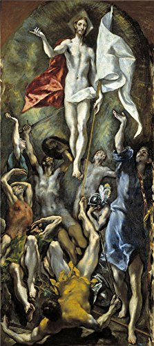 Oil Painting El Greco The Resurrection 1596 1600  20 X 45 Inch   51 X 114 Cm   On High Definition Hd Canvas Prints Is For Gifts And Dining Room  Foyer And Garage Decoration  Canvases