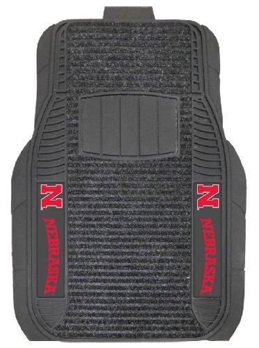 [Nebraska Huskers Deluxe Car Mat Set] (Nebraska Car Mats)