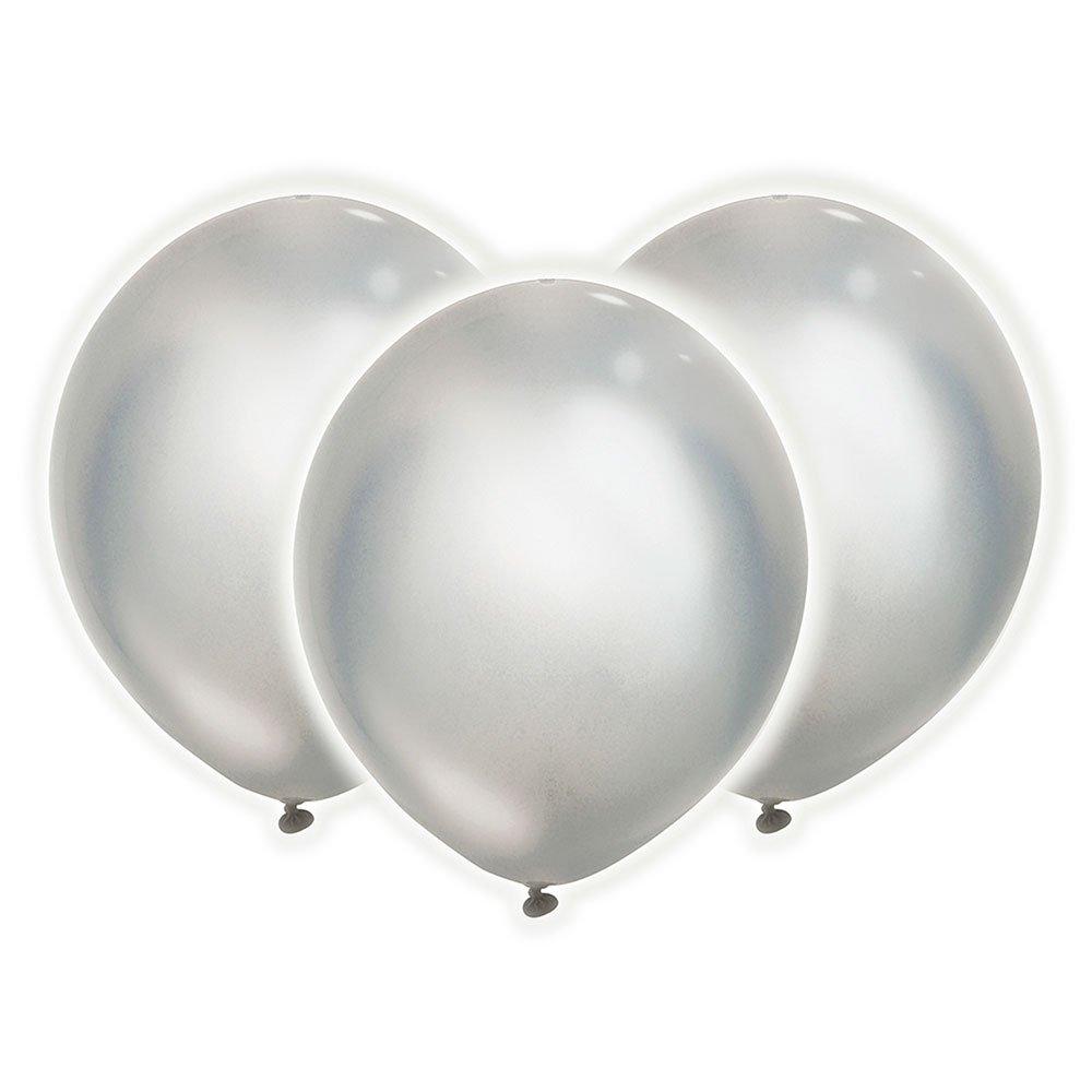 Unique 55186 9 Silver LED Light Up Balloons, 12 Count Unique Industries Inc.