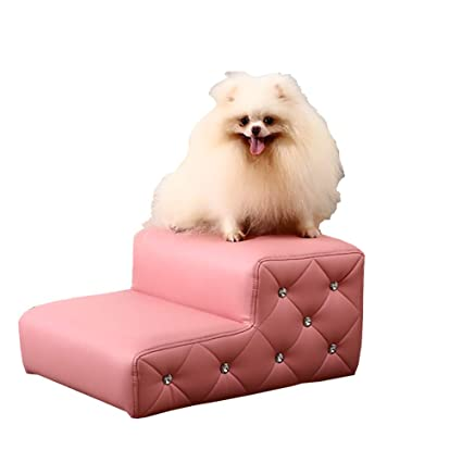 WYDM Taburete Rosa para niños para Camas Altas y sofás, Escalera Impermeable para Mascotas para