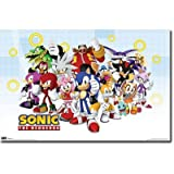"Sonic The Hedgehog - TV Show Poster (The Whole Gang) (Size: 36"" x 24"")"