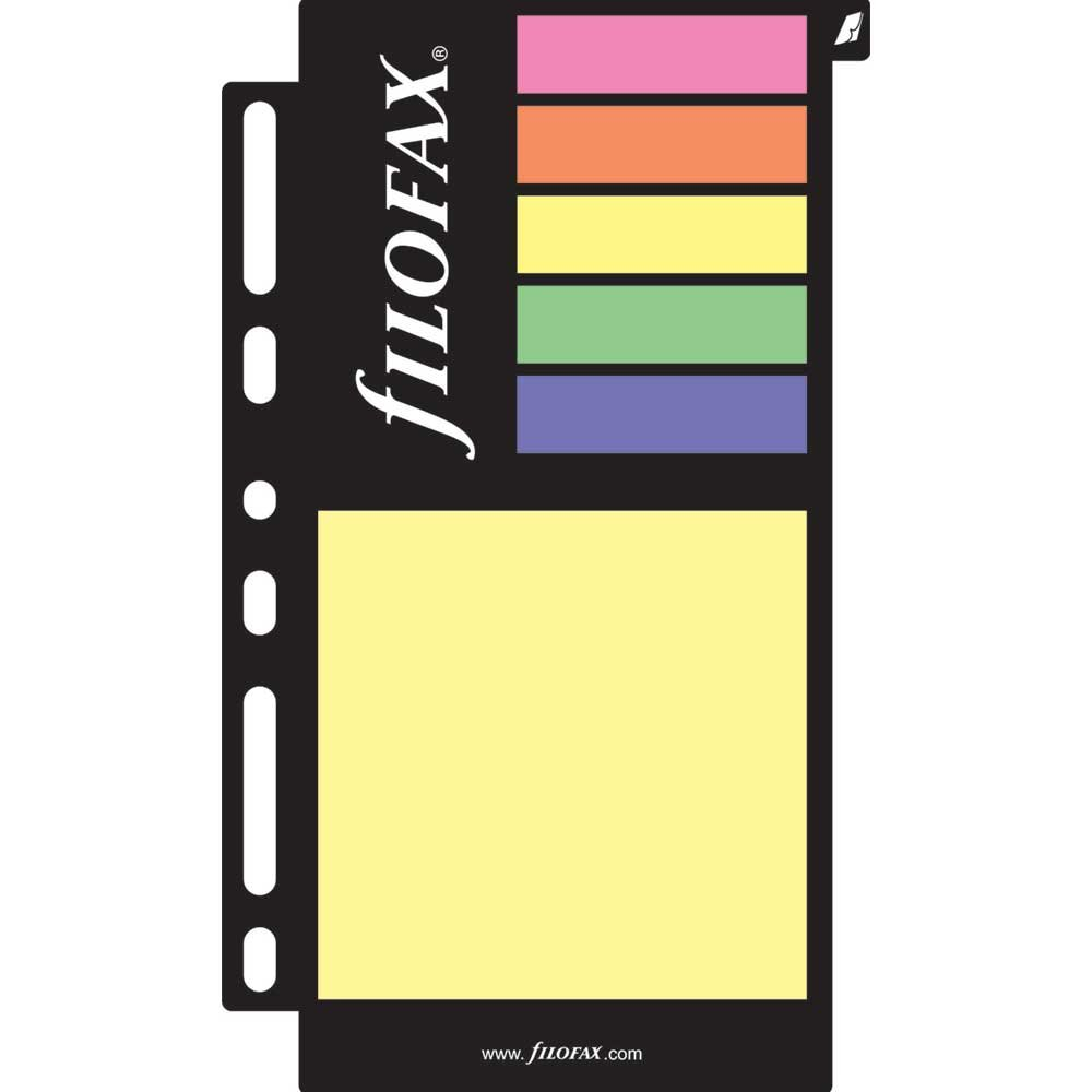 FILOFAX Sticky Notes Assorted Colors, Color May Vary, Multi-Fit (130136)