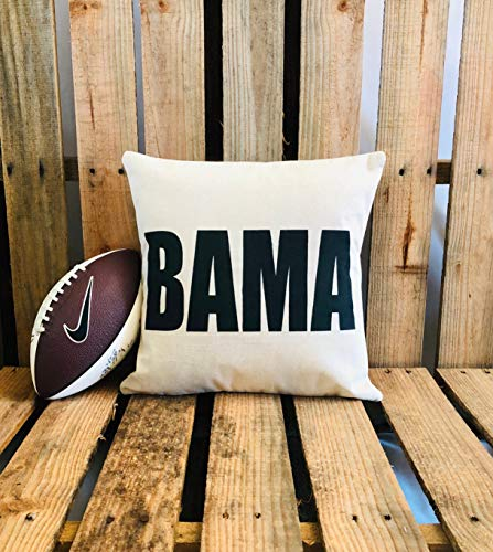 Bama Roll Tide Crimson Tide University of Alabama Pillow 18 x 18 Cotton and Linen Pillow Cover Football College Football