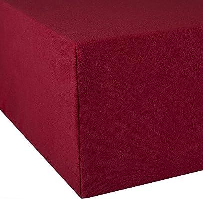 200x220 Wasserbetten Boxspringbetten Jersey Neu Rot Spannbettlaken 180x200