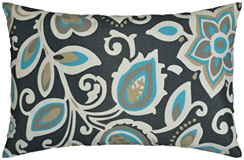 JinStyles Floral Outdoor Lumbar Decorative Throw Pillow Cove