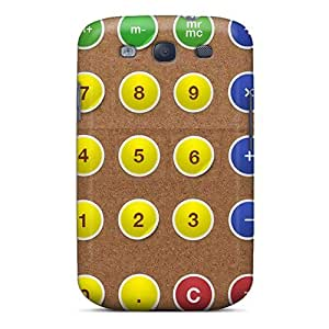 High Impact Dirt/shock Proof Case Cover For Galaxy S3 (calculator)