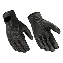Hugger Breathable Leather Men's Weatherlite Gloves with Gel-Padded Palms