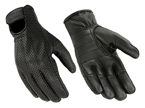 Hugger Men's Breathable Glove for Driving Motorcycles with Lightly Padded Palms Medium (Motorcycle Huggers)