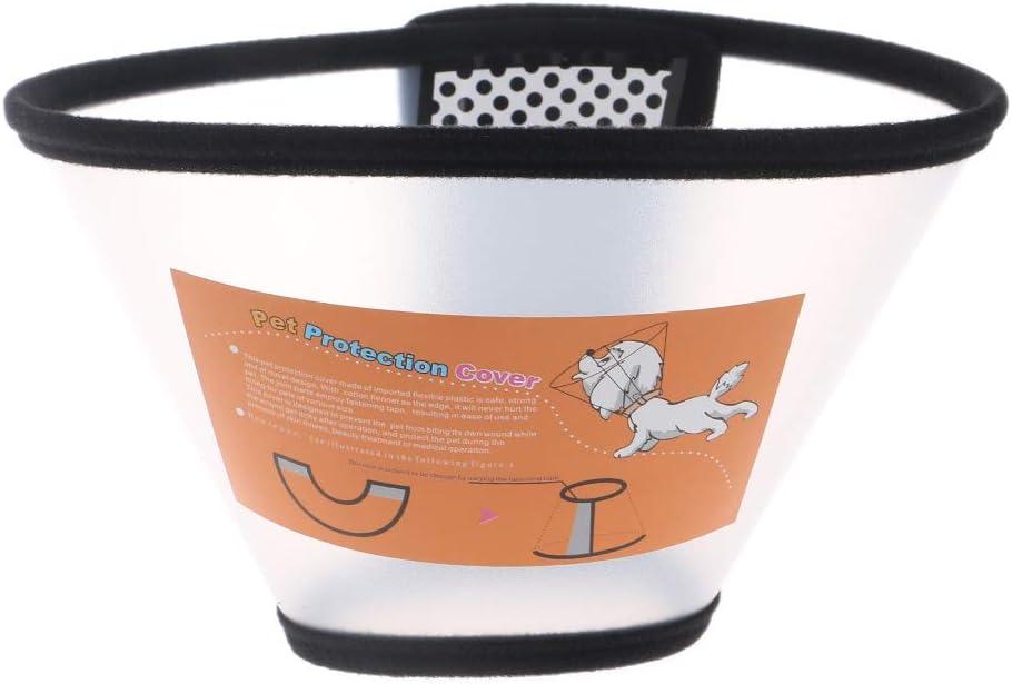 Rtengtunn Mascota Perro Gato Collar isabelino Protección de cicatrización de heridas Cono E-Collar - 5