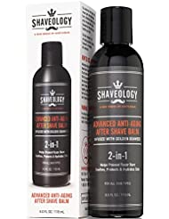 SHAVEOLOGY AfterShave for Men - Advanced 2-in-1 Anti-Aging...