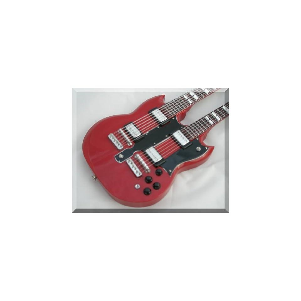 Mini Guitar Led Zeppelin Gibson SG Double Neck Musical Instruments