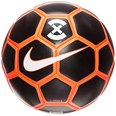 Nike StrikeX Soccer Ball, Black/Orange/White
