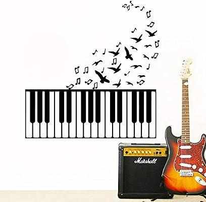 Ajcwhml Música clásica para niños Piano Etiqueta de la Pared Chica ...