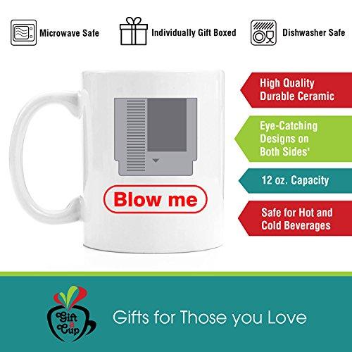 Blow Me   Gamer Gift 11oz Premium Coffee Mug Gift Set - PC Gamer Gifts for men, Birthday, Joke Gamer, for Kids, Bag, for Girls, Basket, for Boys, ps4, xBox, 360, Computer, Teens, Gag, Boyfriend
