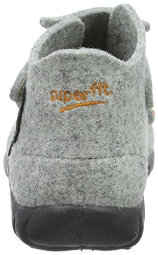 Superfit Happy - Zapatilla de estar Por casa Niños Gris - Grau (Stone Multi 07)
